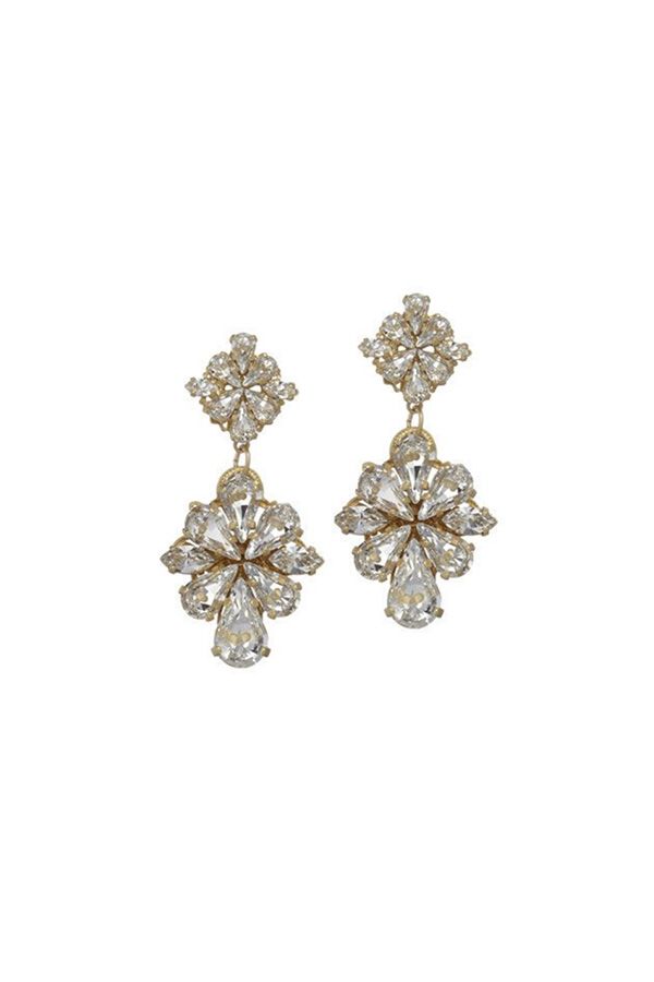 [RENTAL][Gracely Drop Earrings Gold]by ElizabethBower(参考価格¥20,520)