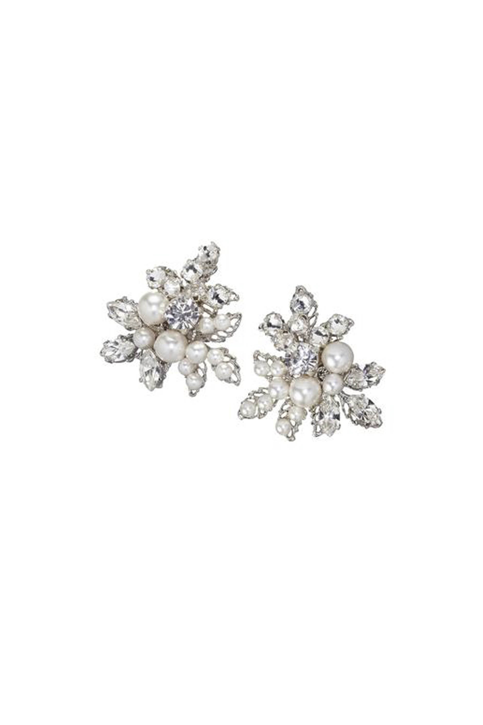 [SELL][Corsage Stud Earrings Silver]by ElizabethBower