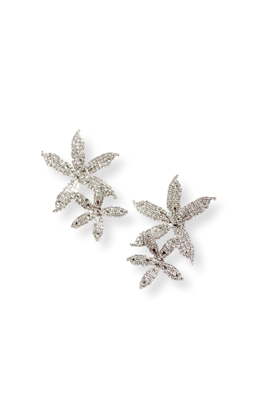 [RENTAL][Crystal Orchid  Cascade Earrings]by JENNIFER BEHR