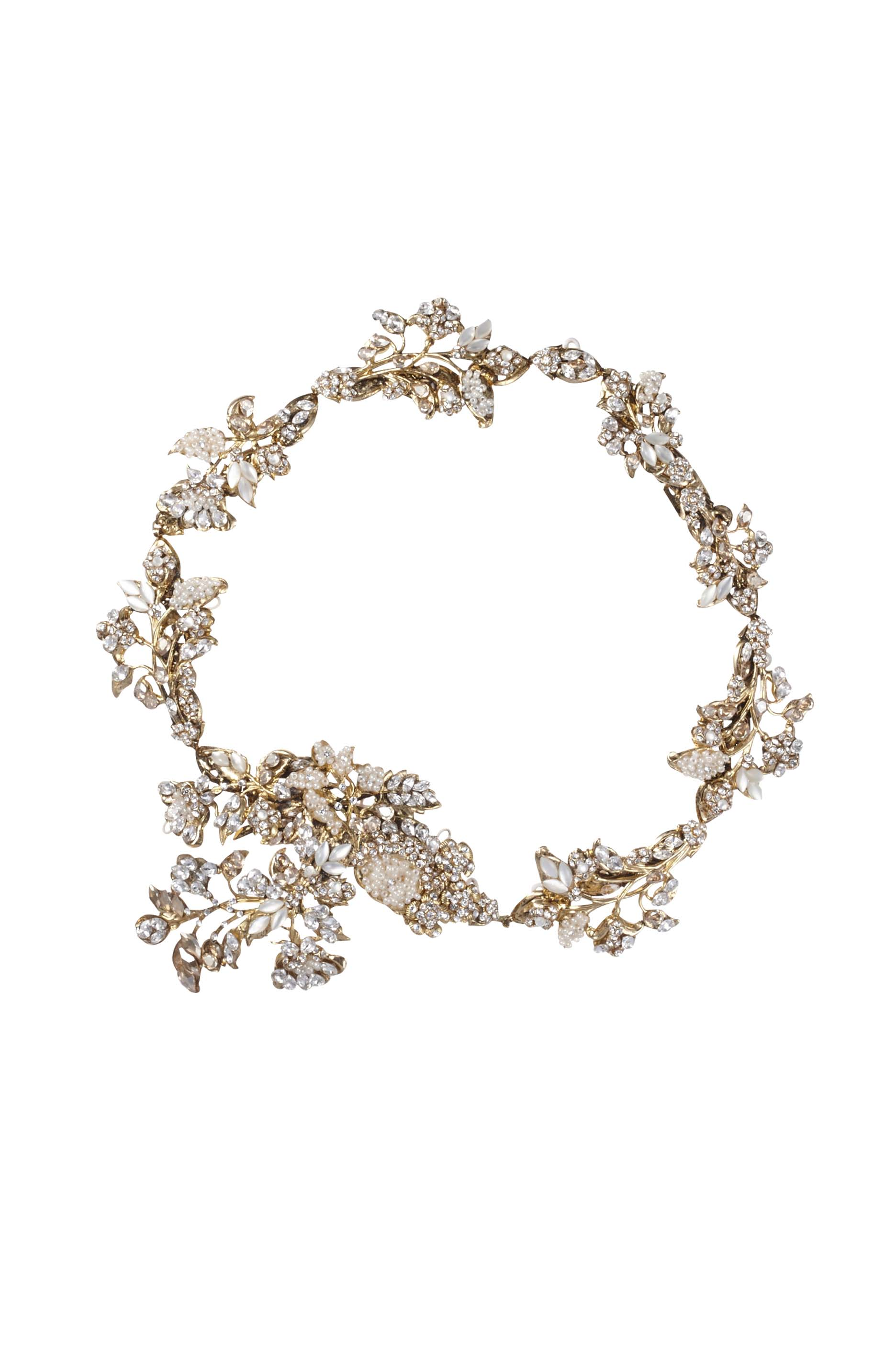 [RENTAL][Iris Headpiece Gold]by MariaElena(参考価格¥162,000)