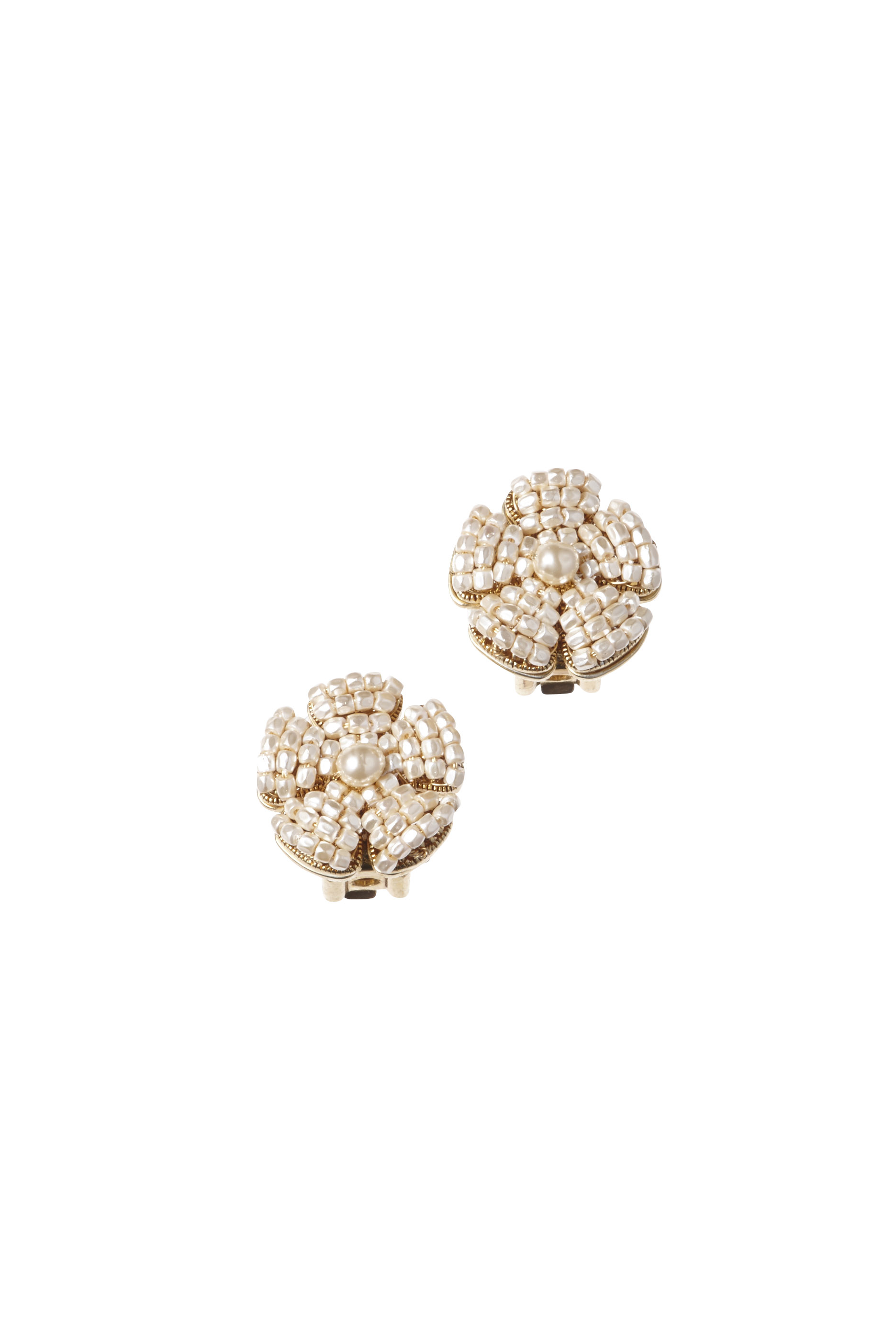 [RENTAL][BIB FLOWER PEARL Earrings]by MIRIAM HASKELL(参考価格¥32,400)