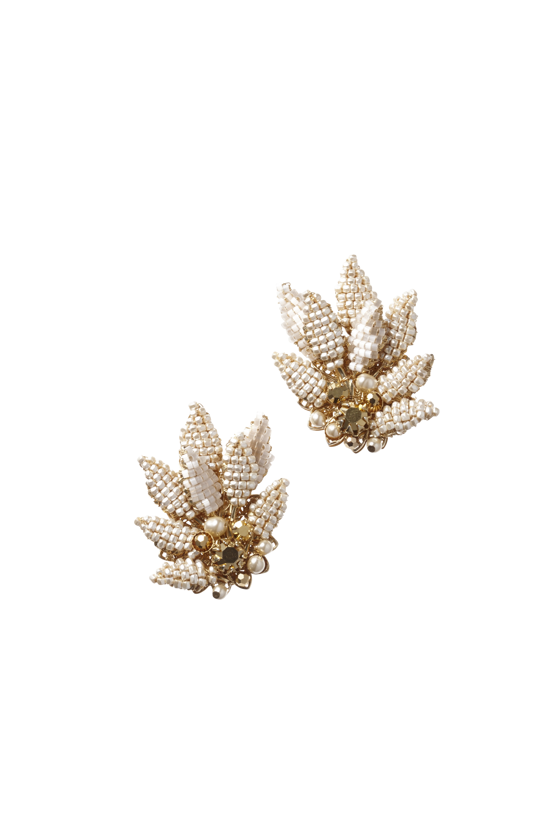 [RENTAL][LEAF CLIP Earrings]by MIRIAM HASKELL(参考価格¥75,000)