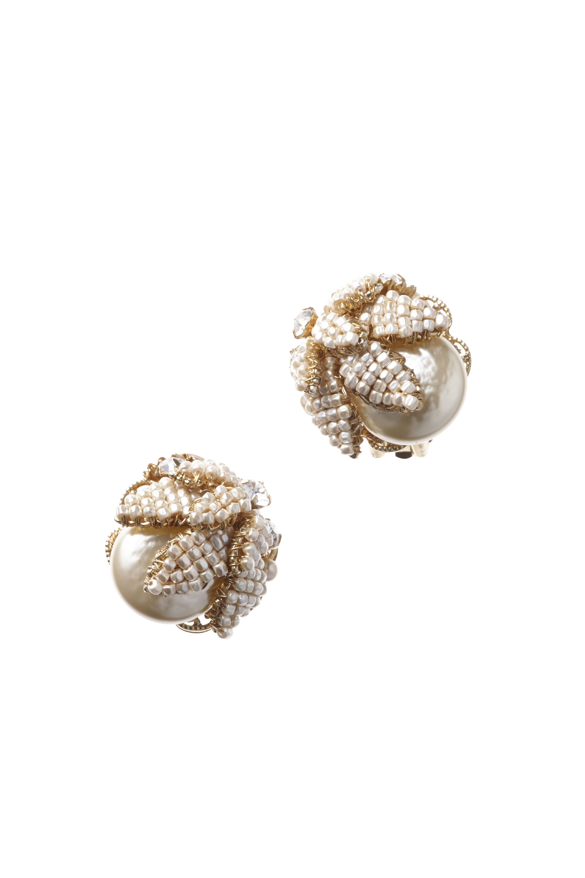 [RENTAL][LEAF PEARL Earrings]by MIRIAM HASKELL(参考価格¥51,300)