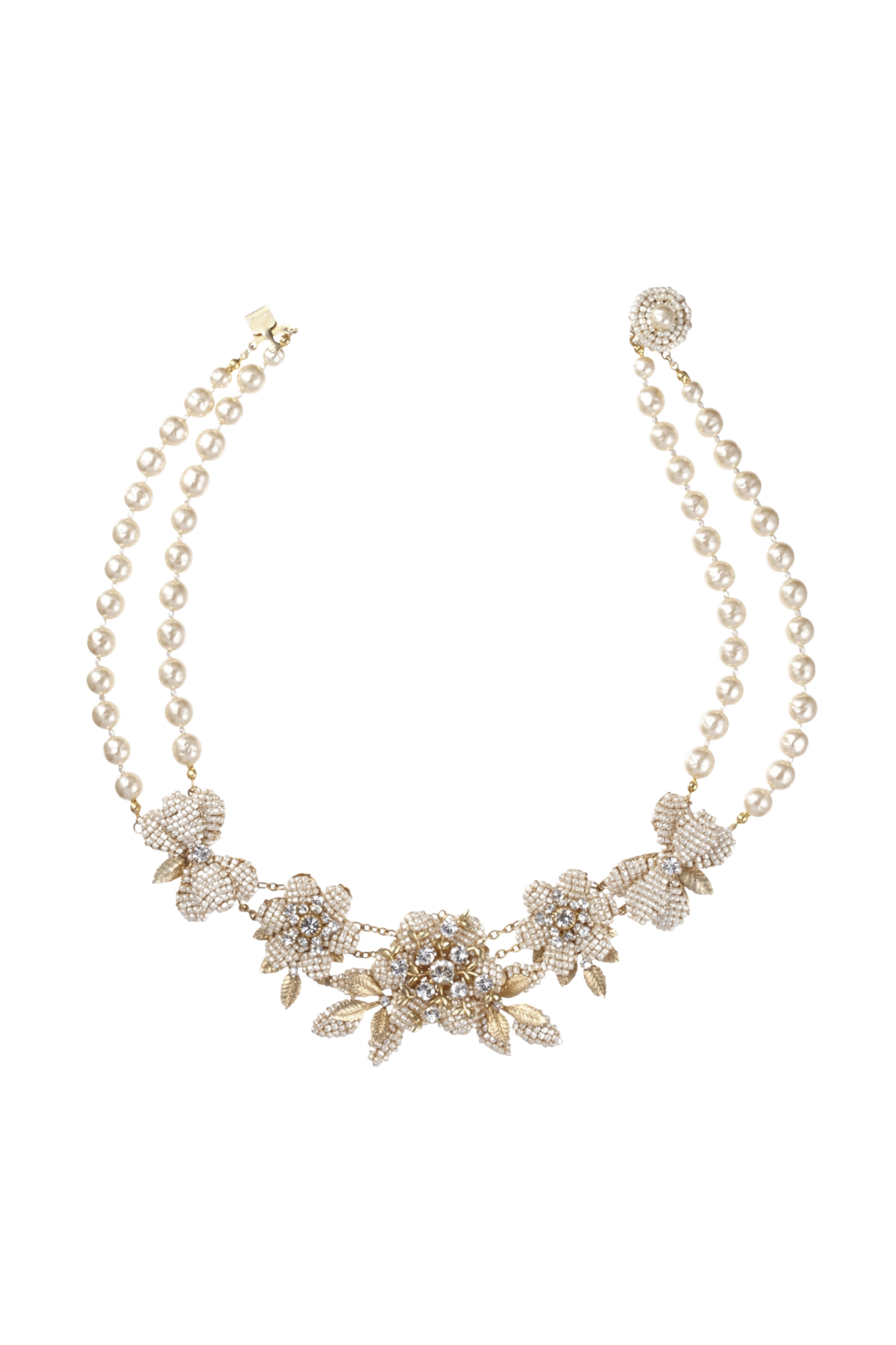[RENTAL][FLOWER SHORT Necklace]by MIRIAM HASKELL(参考価格¥146,000)