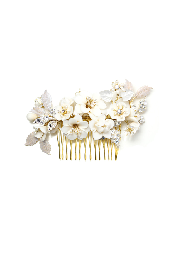 [RENTAL][Creamy Floral Petite Garden Comb]Twigs & Honey