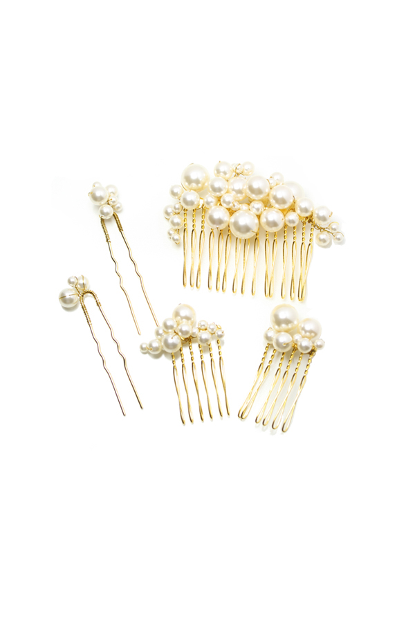 [RENTAL][Pearl Bubbles Comb and Pin Set]Twigs & Honey